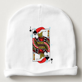 Merry Christmas Jack of Spades - Add Your Images Baby Beanie