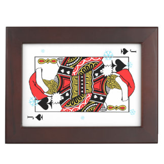 Merry Christmas Jack of Spades - Add Your Images Keepsake Box