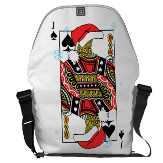 Merry Christmas Jack of Spades - Add Your Images Messenger Bag