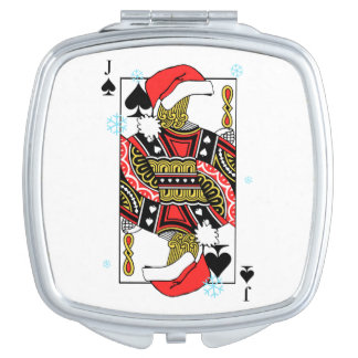 Merry Christmas Jack of Spades - Add Your Images Mirror For Makeup