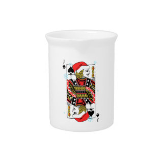 Merry Christmas Jack of Spades Drink Pitchers