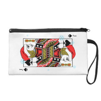 Merry Christmas Jack of Spades Wristlet