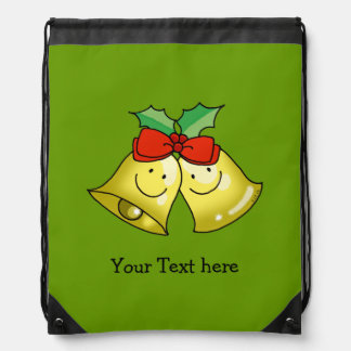 Merry Christmas jingle bells - personalized Drawstring Bag