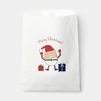 Merry Christmas Jolly Santa Favour Bag