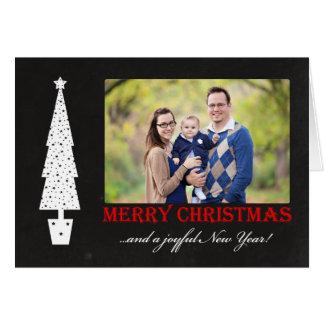 Merry Christmas / Joyful New Year 4 Photo Card