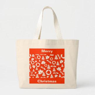 Merry Christmas Jumbo Tote Canvas Bags