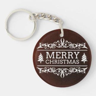 Merry Christmas Key Ring