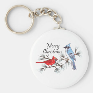 MERRY CHRISTMAS BASIC ROUND BUTTON KEY RING