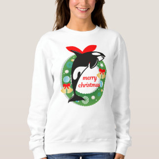 merry christmas killer whale sweatshirt