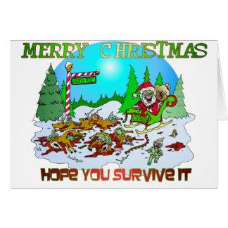 Merry Christmas Killings Card