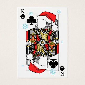 Merry Christmas King of Clubs - Add Your Images Business Card