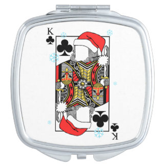 Merry Christmas King of Clubs - Add Your Images Compact Mirrors