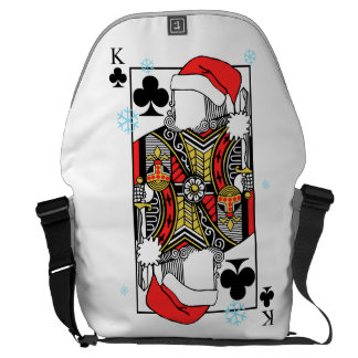 Merry Christmas King of Clubs - Add Your Images Courier Bag
