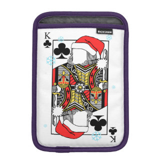 Merry Christmas King of Clubs - Add Your Images iPad Mini Sleeve