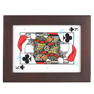 Merry Christmas King of Clubs - Add Your Images Keepsake Box