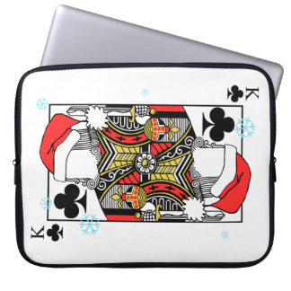 Merry Christmas King of Clubs - Add Your Images Laptop Computer Sleeves