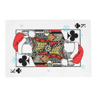 Merry Christmas King of Clubs - Add Your Images Placemat