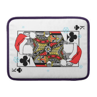 Merry Christmas King of Clubs - Add Your Images Sleeve For MacBook Air