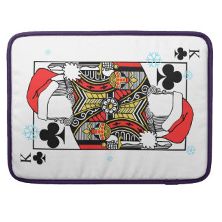 Merry Christmas King of Clubs - Add Your Images Sleeve For MacBook Pro