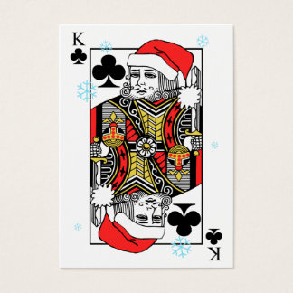 Merry Christmas King of Clubs Business Card