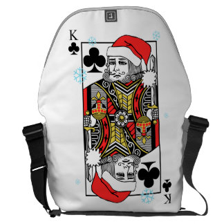Merry Christmas King of Clubs Courier Bags