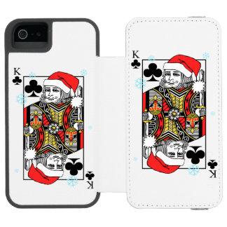 Merry Christmas King of Clubs Incipio Watson™ iPhone 5 Wallet Case