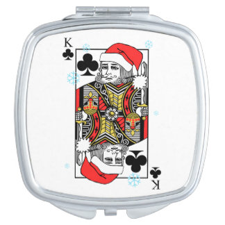Merry Christmas King of Clubs Mirror For Makeup