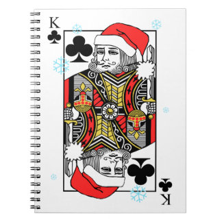 Merry Christmas King of Clubs Notebook