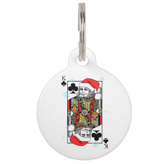 Merry Christmas King of Clubs Pet Tag