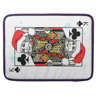 Merry Christmas King of Clubs Sleeve For MacBooks