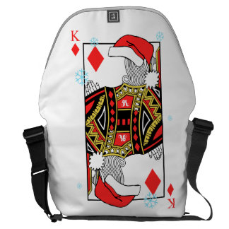 Merry Christmas King of Diamonds - Add Your Images Commuter Bag