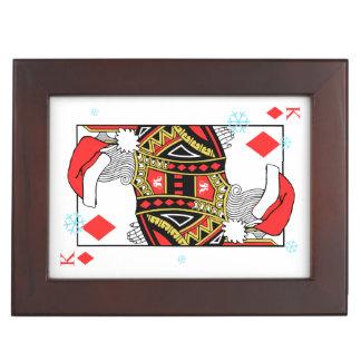 Merry Christmas King of Diamonds - Add Your Images Keepsake Box
