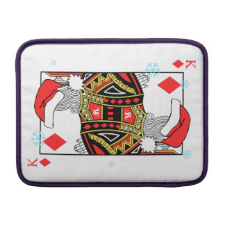 Merry Christmas King of Diamonds - Add Your Images MacBook Air Sleeves