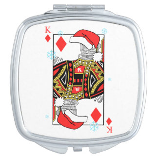Merry Christmas King of Diamonds - Add Your Images Mirror For Makeup