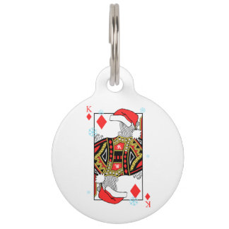Merry Christmas King of Diamonds - Add Your Images Pet Name Tag