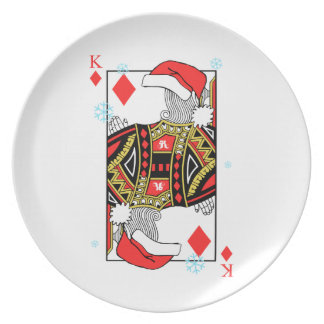 Merry Christmas King of Diamonds - Add Your Images Plate