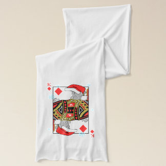 Merry Christmas King of Diamonds - Add Your Images Scarf