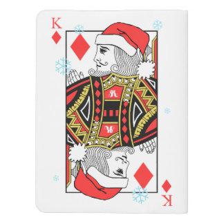 Merry Christmas King of Diamonds Extra Large Moleskine Notebook