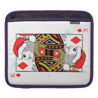 Merry Christmas King of Diamonds iPad Sleeve