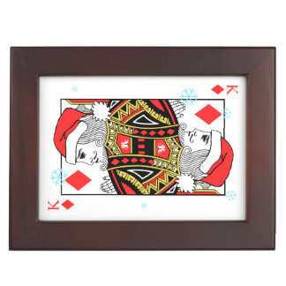 Merry Christmas King of Diamonds Keepsake Box