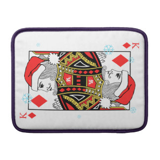 Merry Christmas King of Diamonds MacBook Sleeve