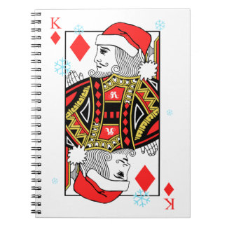 Merry Christmas King of Diamonds Notebook