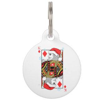 Merry Christmas King of Diamonds Pet ID Tag