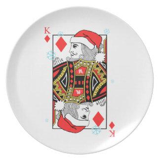 Merry Christmas King of Diamonds Plate