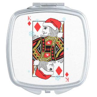 Merry Christmas King of Diamonds Travel Mirrors