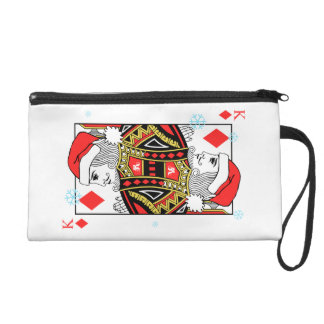Merry Christmas King of Diamonds Wristlet
