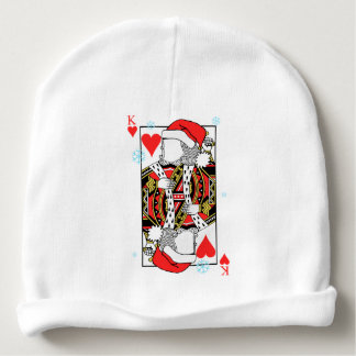 Merry Christmas King of Hearts - Add Your Images Baby Beanie