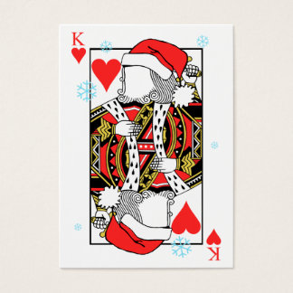 Merry Christmas King of Hearts - Add Your Images Business Card