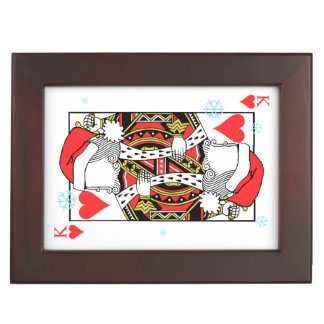 Merry Christmas King of Hearts - Add Your Images Keepsake Box