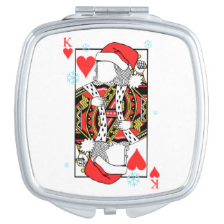 Merry Christmas King of Hearts - Add Your Images Vanity Mirrors